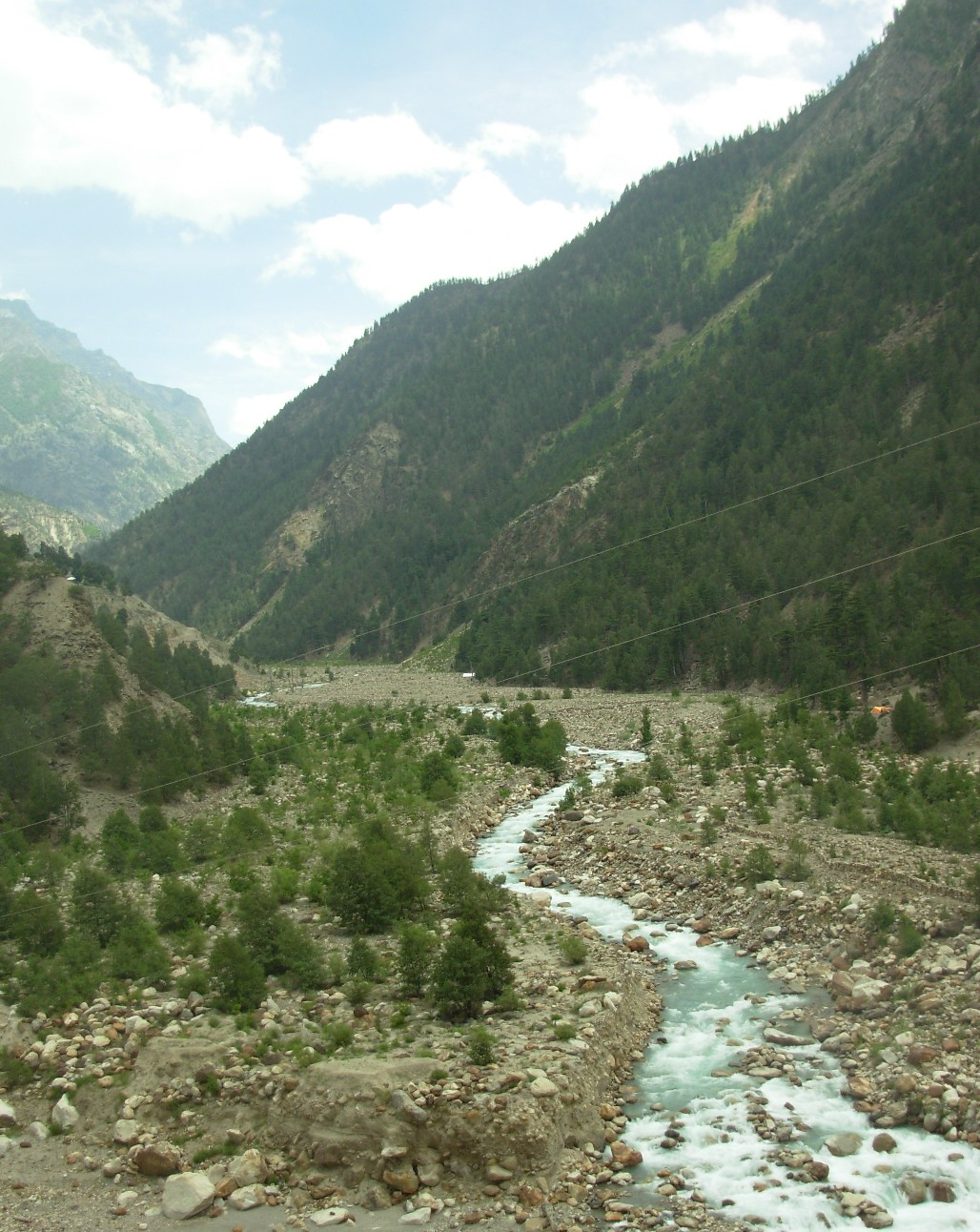 Baspa River reduced to a Nallah