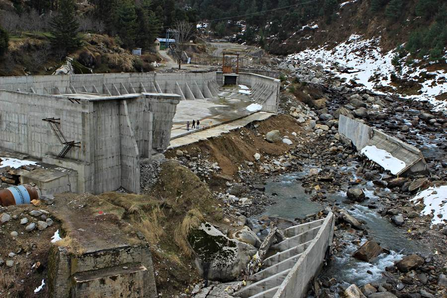 The 4.8 MW Aleo II hydro project situated between village Aleo and Prini now in a dismantled state. The reservoir of the newly built Aleo II exploded during its very first trial run on January 12, 2014.                                                                                                                                          Pic Date : 27/02/2014