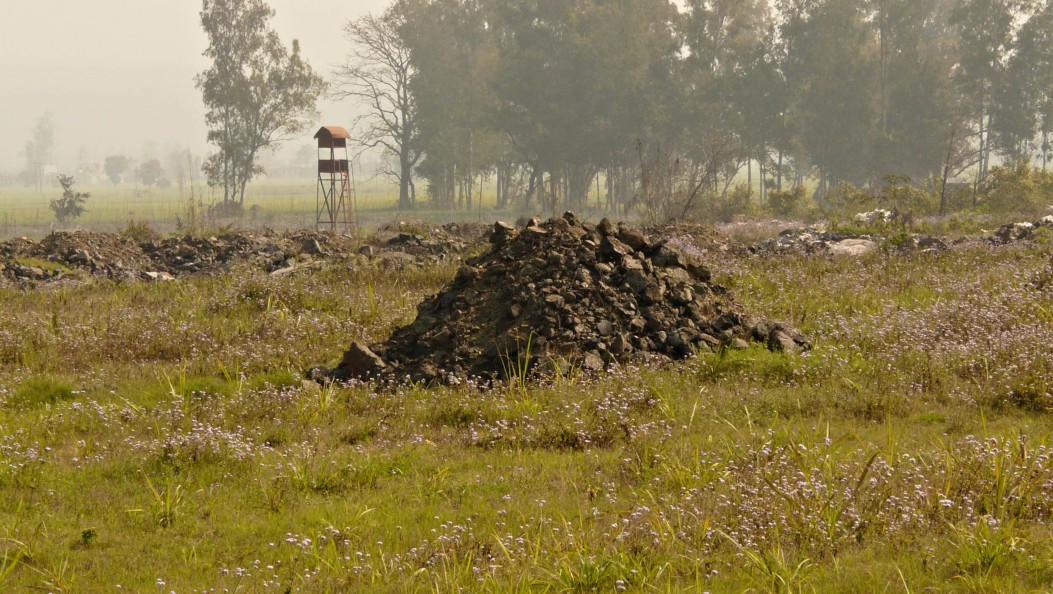 solid wastes dumps on fields